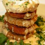 Crab Stuffed Green Tomato Tower