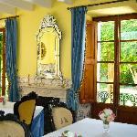 Beautiful dining area for rainy days