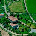 Foto aerea della tenuta