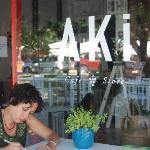 studying at aki's cafè