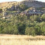 Isandlwana Lodge, built into the side of Nyoni Rock