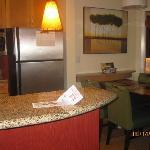 The kitchen area-1 bedroom suite