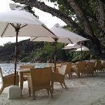 Restaurant en bord de plage