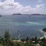Vue panoramique, île Curieuse au loin
