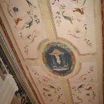 Room 3 first floor has frescoes on ceiling