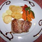 Uno de los platos que pedimos. Cenamos dos noches en el Restaurante.