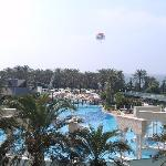 The outdoor pool- one of the biggest in the Med