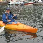 My wife in a kayak