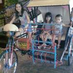 Our kids liked the display trishaw in the Lobby