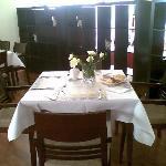 tavolo apparecchiato colazione