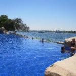 Infinity pool overlooking the river Nile