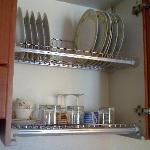 Dishes in the kitchen.