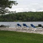 Nice sand beach on the lake