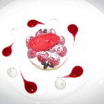 English sable Breton with raspberries & mascarpone