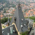 Foto vanaf de toren van het kasteel wernigerode
