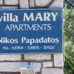 Villa Mary contact details