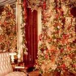 Mansion Parlor at Christmas