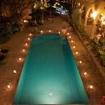 Hacienda Pool in the evening