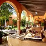 One of many Hacienda exterior seating areas