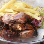 Jerk chicken at the Cabana Grill at Couples Swept Away