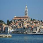 From the ferry into Rovinj