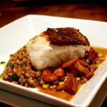 Black Sea Bass with Faro
