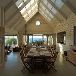 The dining and living area with view to the ocean