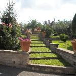 tuin bij ingang
