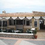A view towards the restaurant