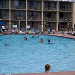 All rooms faced the decent sized pool