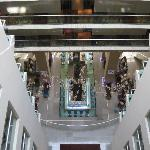 looking down onto lobby from center
