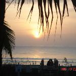 Our candid sunrise from Oceanfront Cottages-