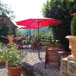 Le Manoir the terrace