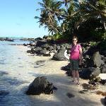 Walking along the beach Muir
