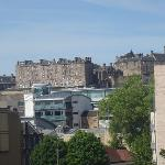 Edinburgh Castle in distance from 3rd fl room