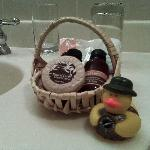 Love the wonderful herbal soaps and the rubber duckie!