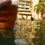 Beers poolside...