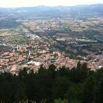 Gubbio from the top of the Funivia
