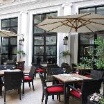 Spend time outside in beautiful Tbilisi on our hotel Patio