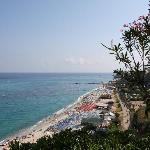 Vue plage de notre terrasse