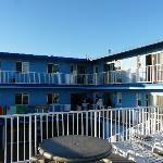 Vue du motel depuis terrasse