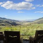 view from our porch of yellowstone river valley