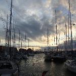 Sunset in Stavoren over the harbour, breathtaking