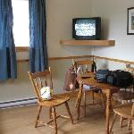 smaller cottage - eating area and tv