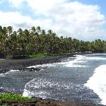 Beautiful black sand beach