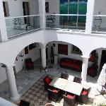 View from the second floor into the courtyard