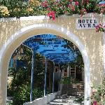 Entrance to Hotel Avra