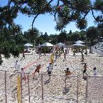 Beach - Volleyball im Zentrum von Crans-Montana