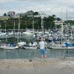 Torquay harbour, 10 minute bus ride from hotel.