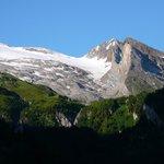 der Gletscher von unserem Balkon aus gesehen